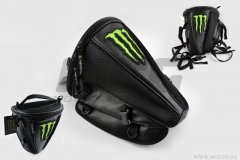 Рюкзак-сумка MONSTER ENERGY (mod-B-1, на хвост мотоцикла), (Китай), Черный