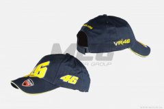 Бейсболка 46 VALENTINO ROSSI AND DUCATI (100% хлопок), Черный