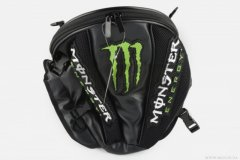 Рюкзак-сумка MONSTER ENERGY (mod-B-4, на хвост мотоцикла), (Китай), Черный