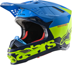 Шлем Alpinestars Supertech M8 RADIUM, Синий/Желтый, S